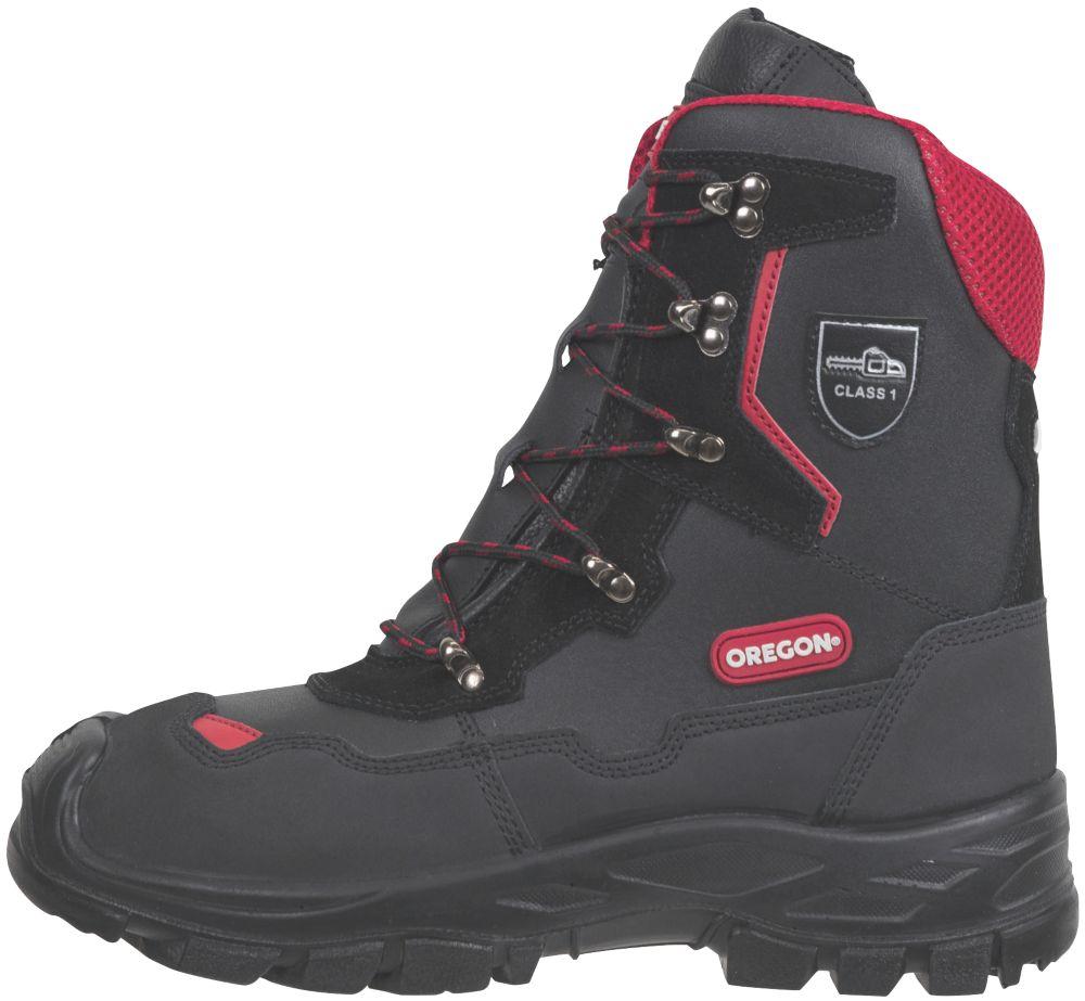Oregon Yukon  Safety Chainsaw Boots Black Size 6.5