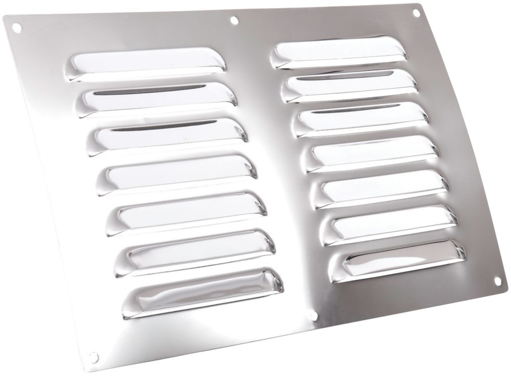 Map Vent Fixed Louvre Vent Chrome Stainless Steel 229 x 152mm