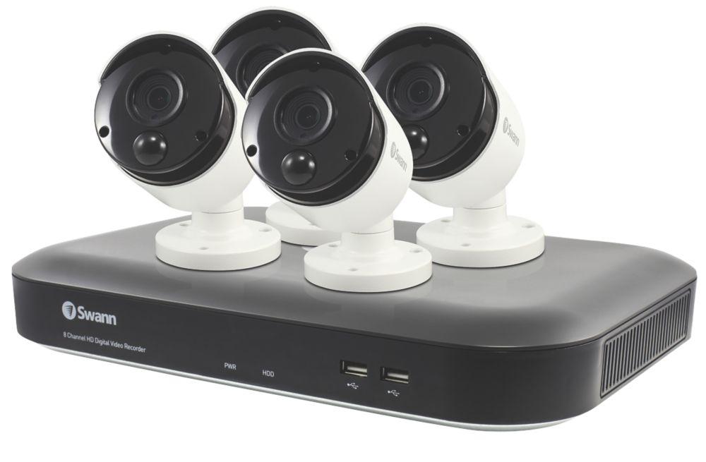 Swann SWDVK-849804-UK 8-Channel 5MP DVR CCTV Kit & 4 Cameras