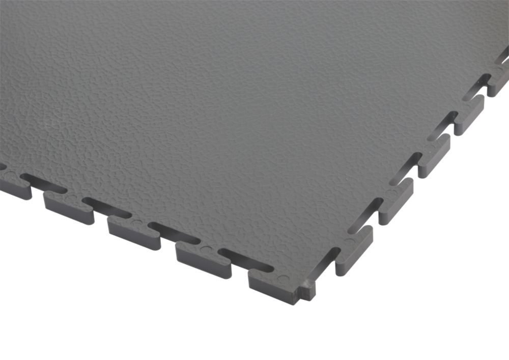 PVC Interlocking Floor Tiles 8 Pack