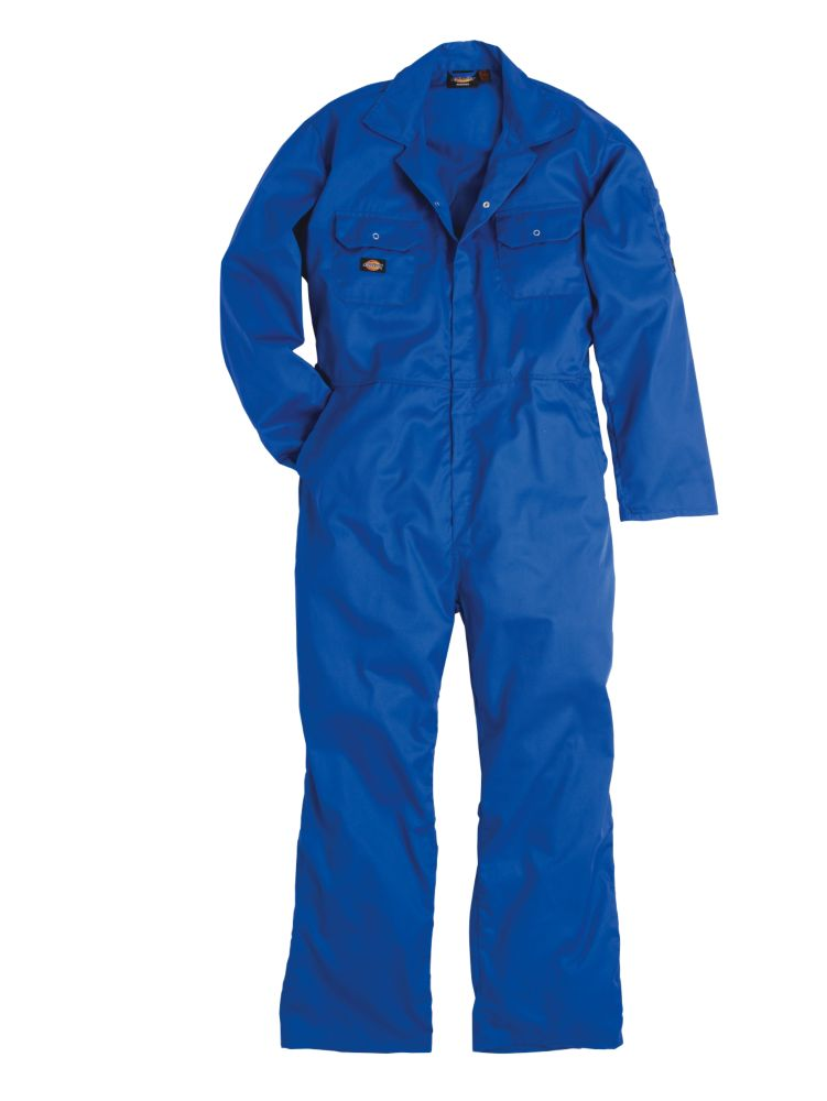 """Dickies Redhawk Economy Coverall Royal Blue X Large 48-50"""" Chest 30"""" L"""
