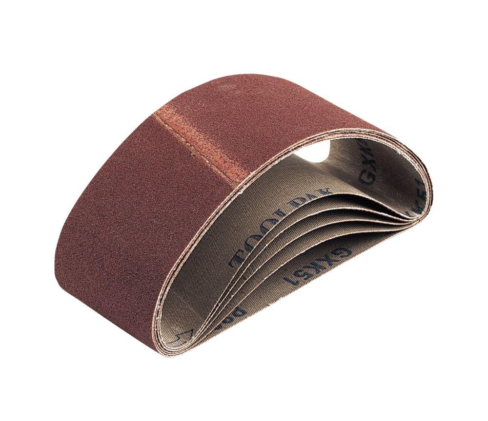 Cloth Sanding Belts Unpunched 410 x 65mm 80 Grit 5 Pack