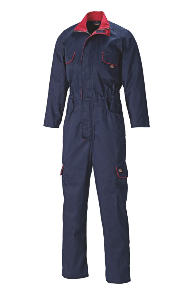 Dickies Redhawk Ladies Zip-Front Coverall Navy Size 16  L