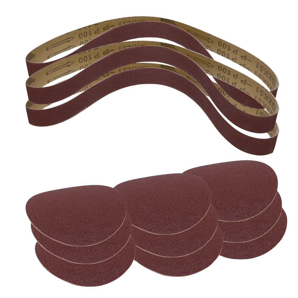 Scheppach BTS700 Sanding Discs & Belts Set 12 Pieces