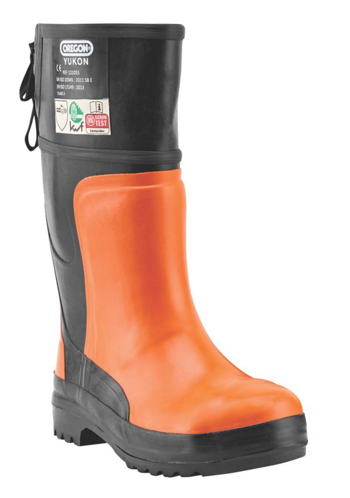 Oregon Yukon  Safety Chainsaw Boots Orange / Black Size 10.5