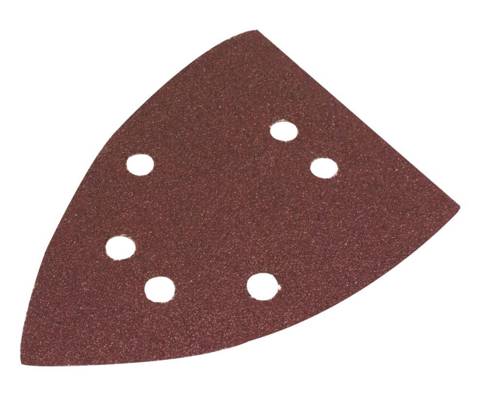 Flexovit Corner Sanding Triangles Punched 135 x 95mm 60 Grit 6 Pack