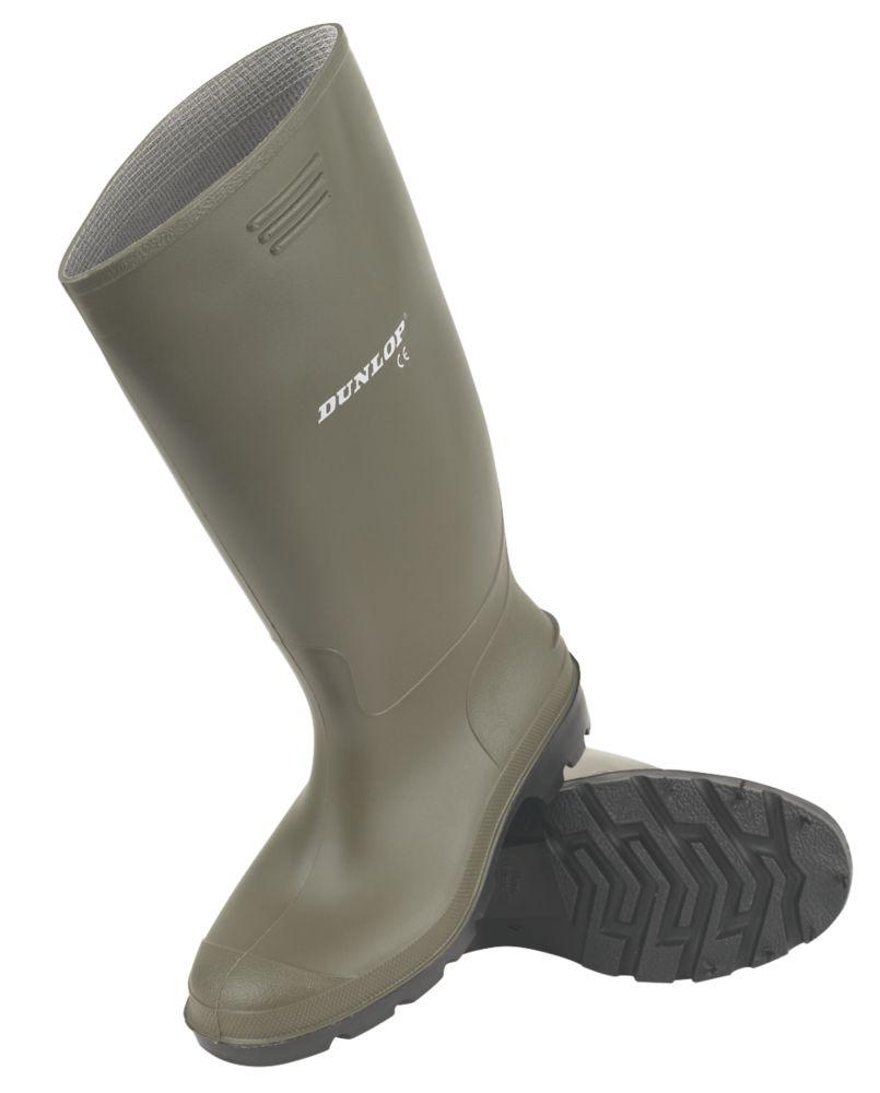 Dunlop Non Safety Pricemaster   Non Safety Wellies Green Size 9