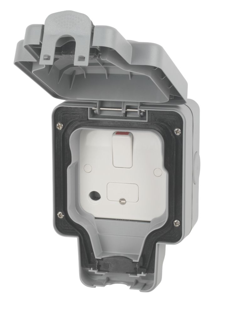 MK  IP66 13A Weatherproof Outdoor Switched Fused Spur & Flex Outlet