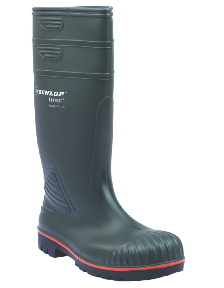 Dunlop Safety Acifort A442631   Safety Wellies Green Size 10