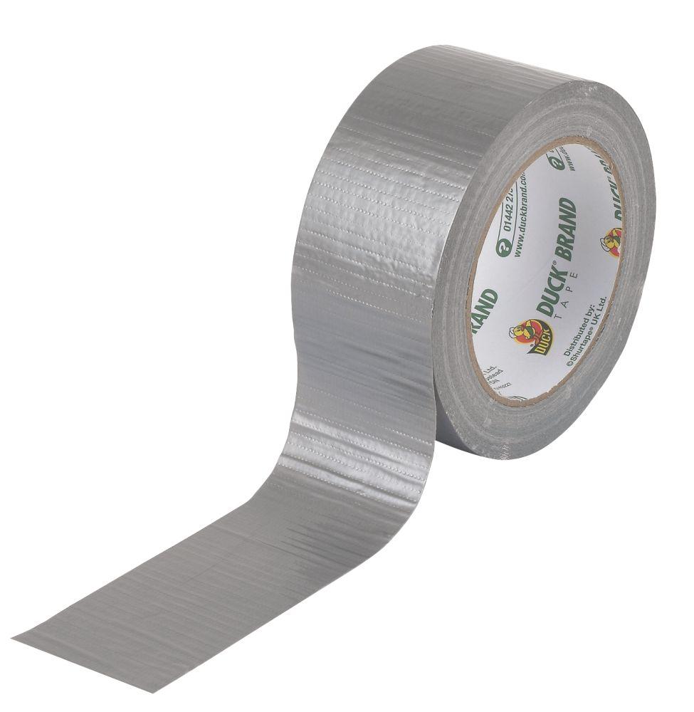 Duck Original Cloth Tape 50 Mesh Silver 25m x 50mm