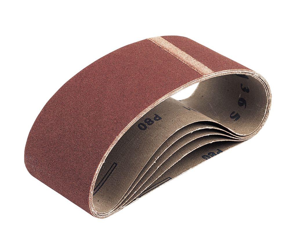 Cloth Sanding Belts Unpunched 533 x 75mm 40 Grit 5 Pack