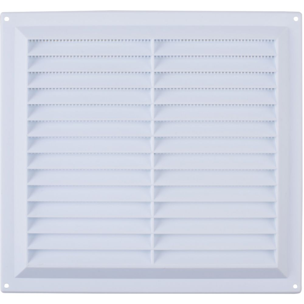 Map Vent Fixed Louvre Vent with Flyscreen White 229 x 229mm