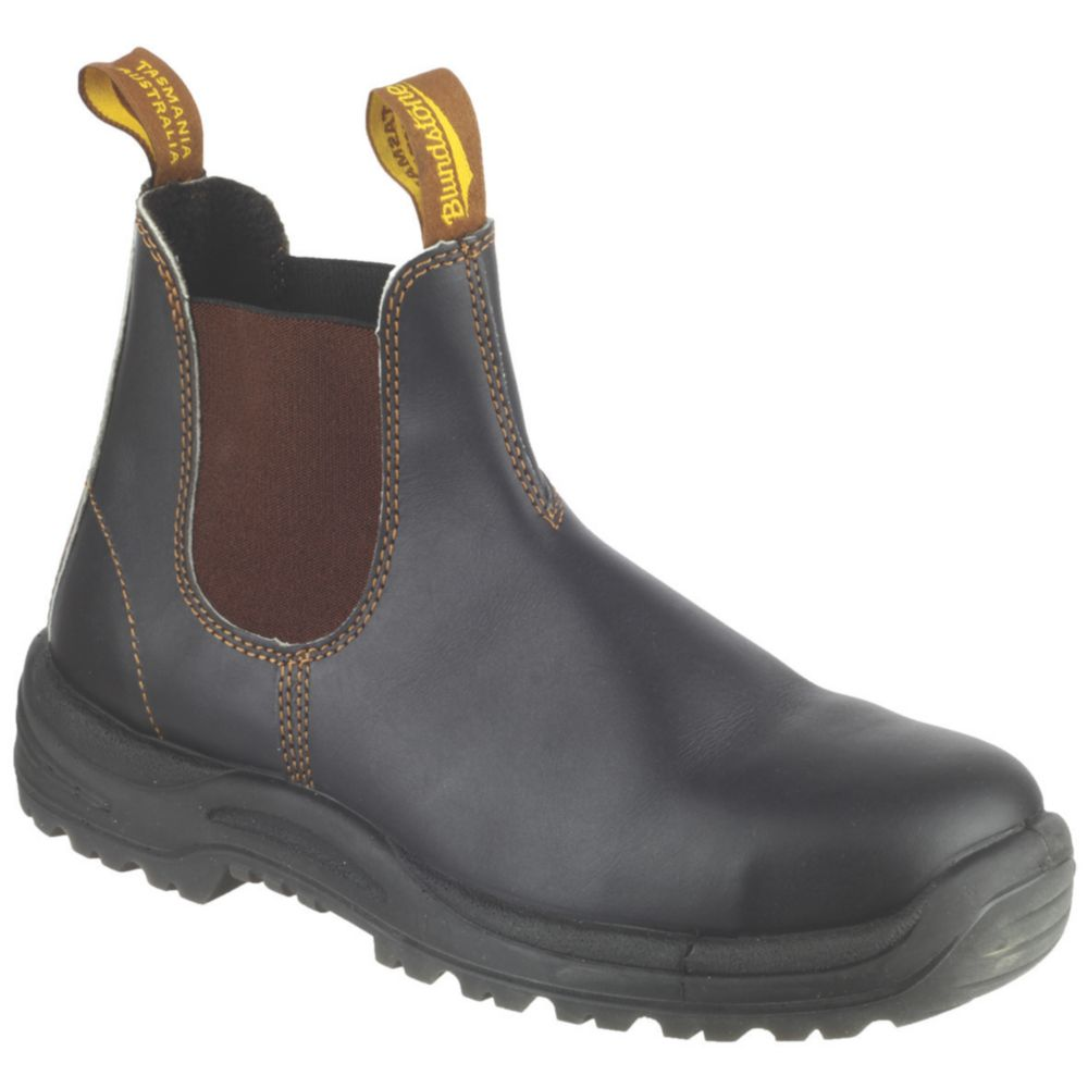 Blundstone 192   Safety Dealer Boots Brown Size 9
