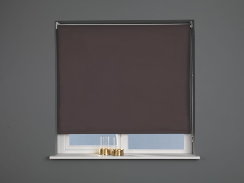 Roller Blackout Blind Brown 1200 x 1700mm Drop