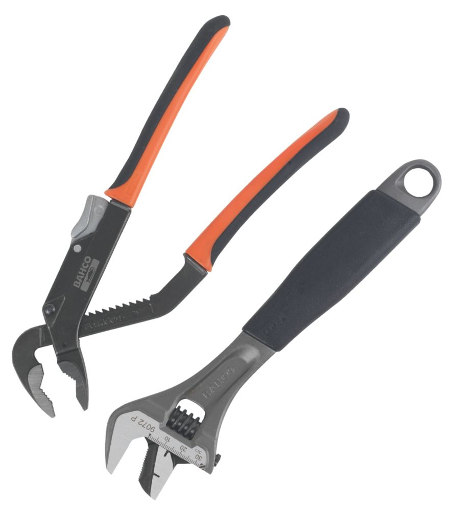Bahco  Pliers & Wrench Twin Pack 2 Pack