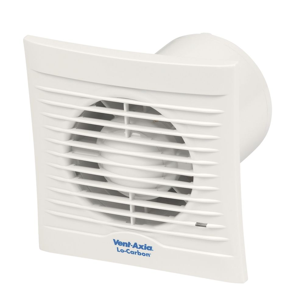 Vent-Axia 100B 6-8.7W Bathroom Extractor Fan  White 240V