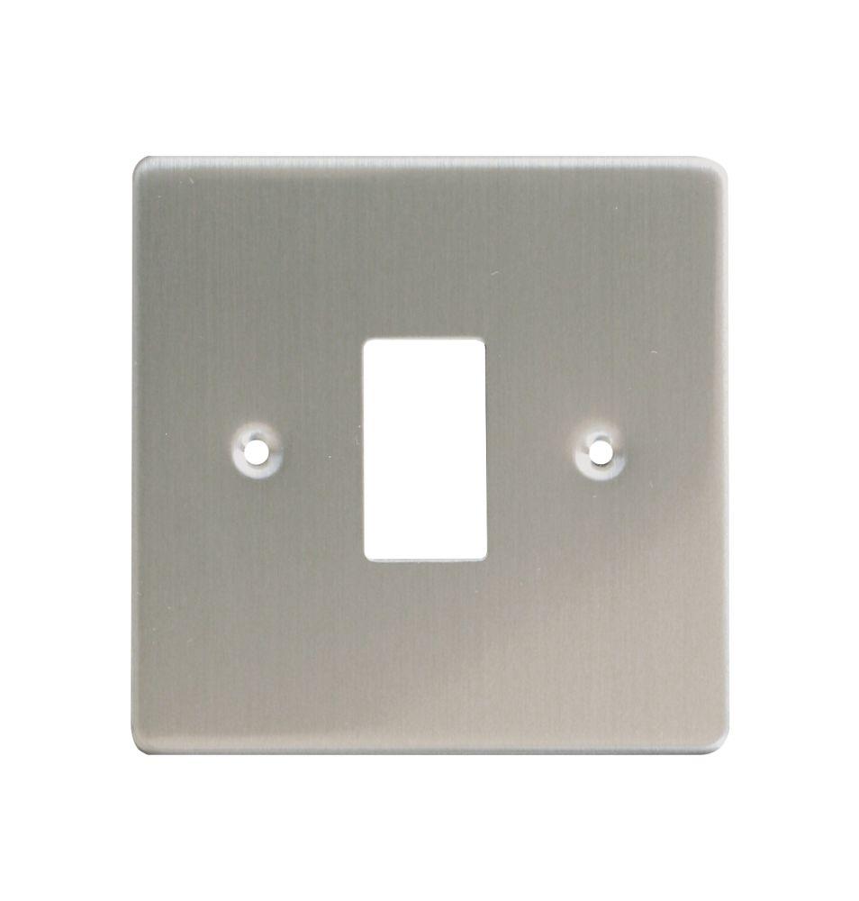 Varilight XDSPG1 1-Gang PowerGrid Faceplate Metal