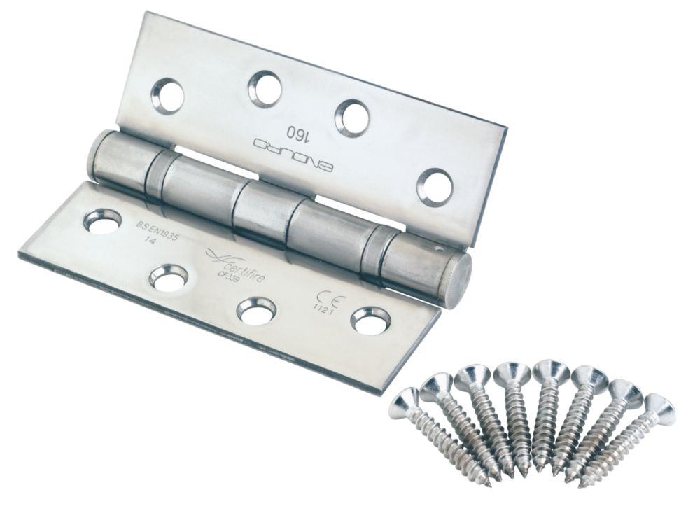 Eurospec Fire Door Thrust-Bearing Hinges Fire Rated 102 x 76mm 2 Pack