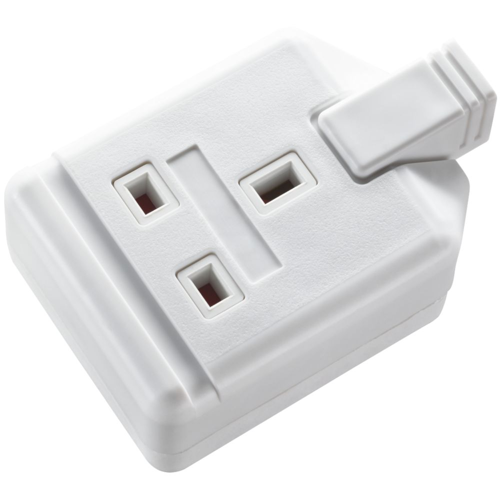 Masterplug 13A 1-Gang Rewireable Socket White
