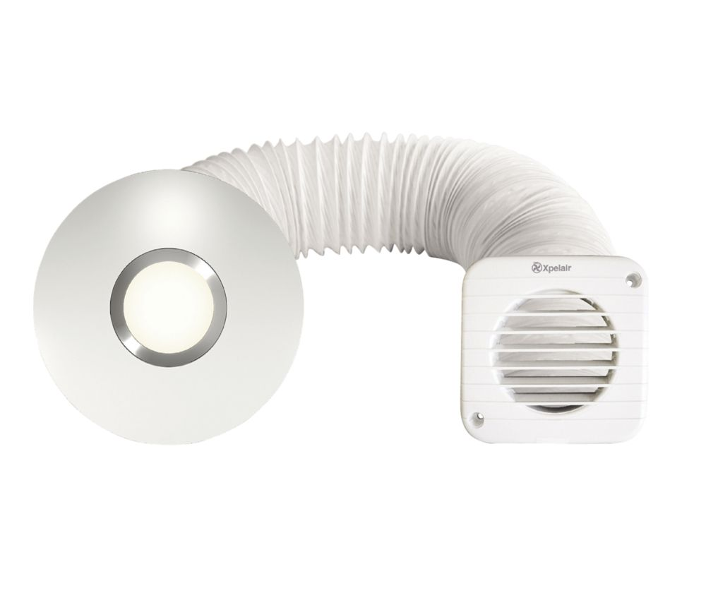Xpelair Simply Silent LED Shower Fan Kit White 100mm