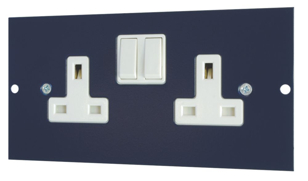 Schneider Electric 13A Twin Switched Socket Outlet 173 x 87mm