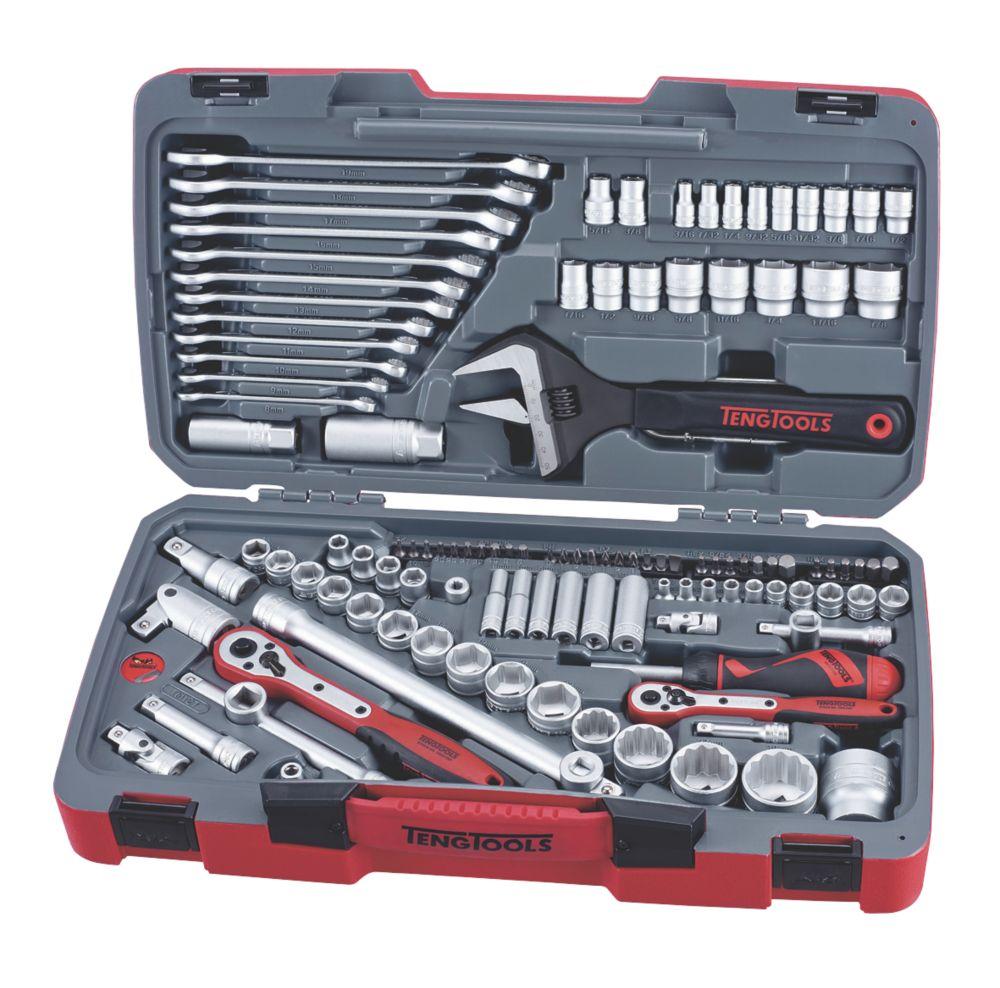 "Teng Tools  ¼"", ⅜"" & ½"" Drive Socket & Tool Set 127 Pieces"