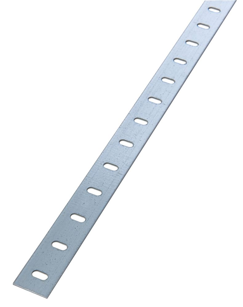 Alfer Galvanised Steel Flat Bar 1000 x 23.5 x 1.2mm
