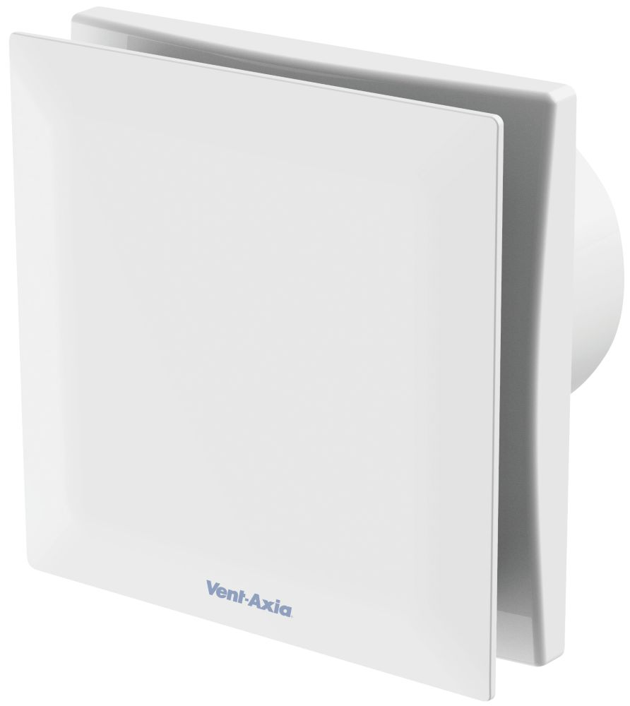 Vent-Axia VASF100H 5W Bathroom Extractor Fan with Humidistat & Timer White 240V