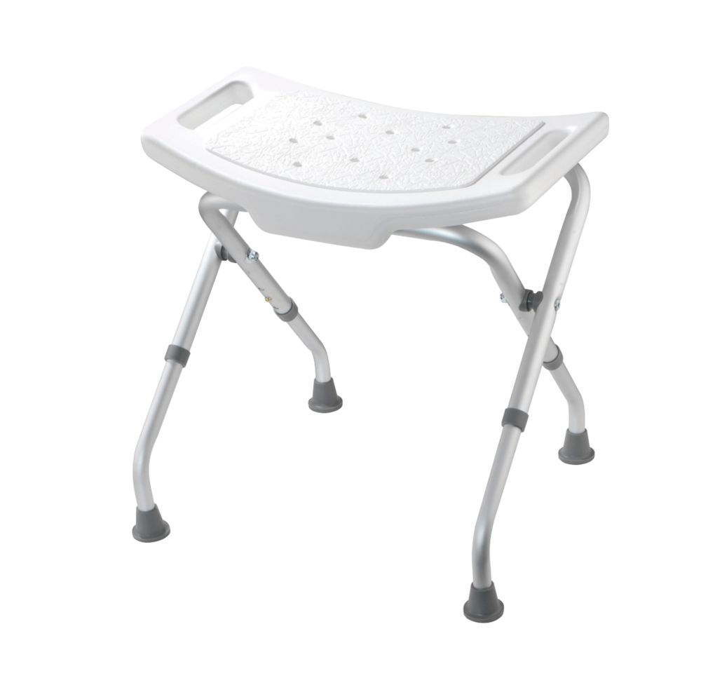 Croydex Freestanding Adjustable Shower Seat White