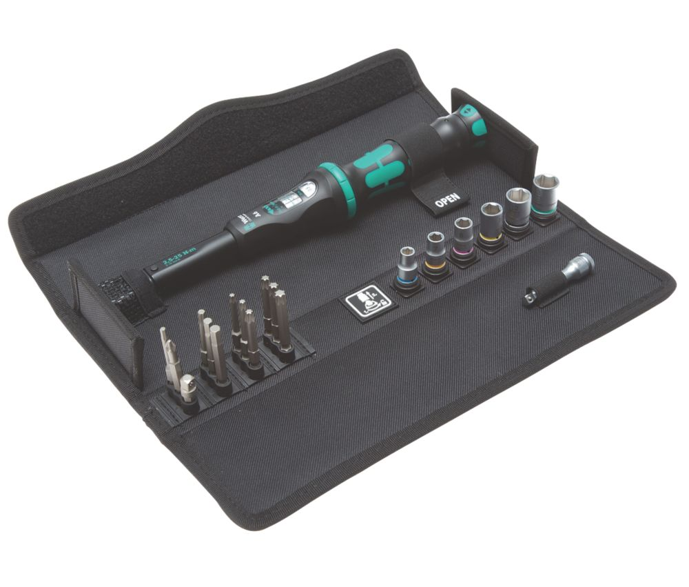 Wera Click-Torque A 6 1 Adjustable Torque Wrench Set 20 Pieces