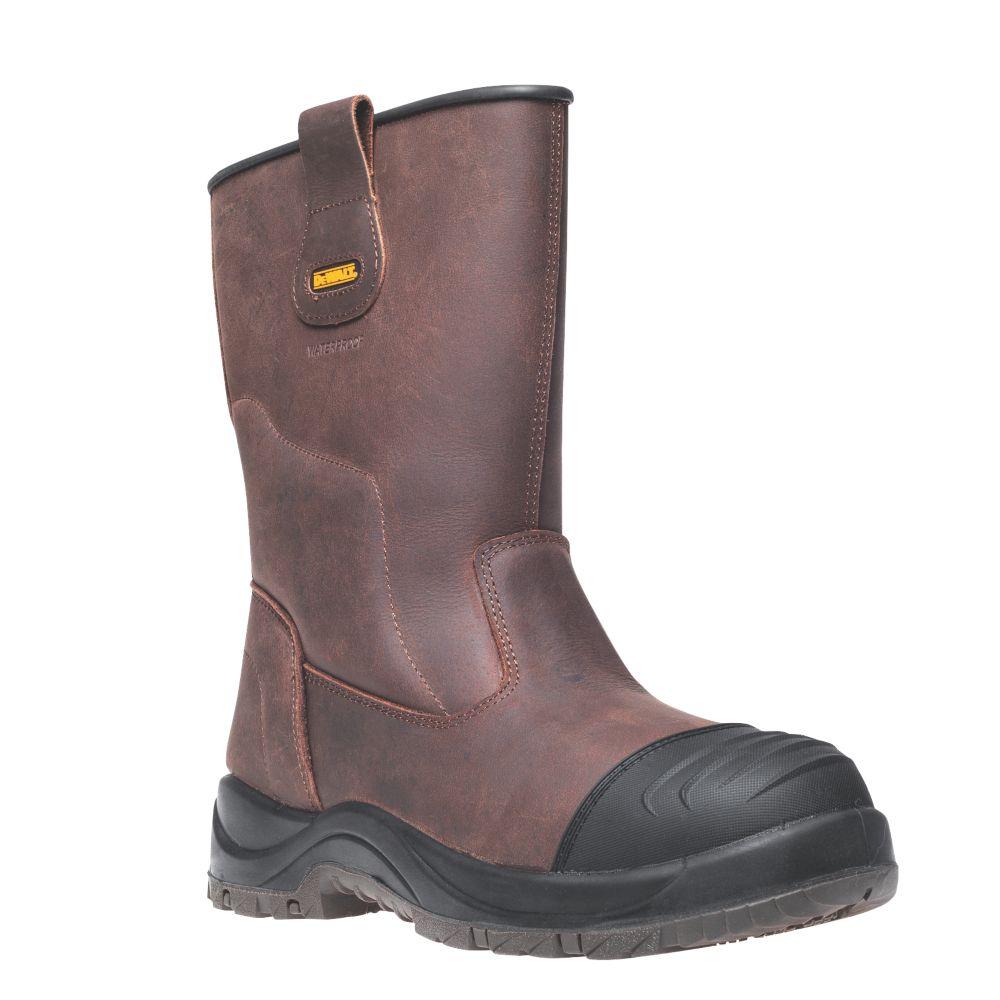DeWalt Fullerton   Safety Rigger Boots Brown Size 9