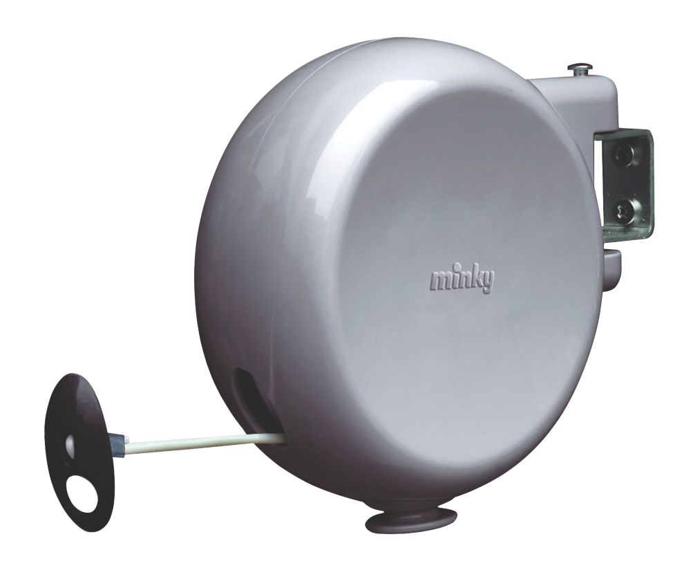Minky 1 Line 15m Grey Retractable Washing Line