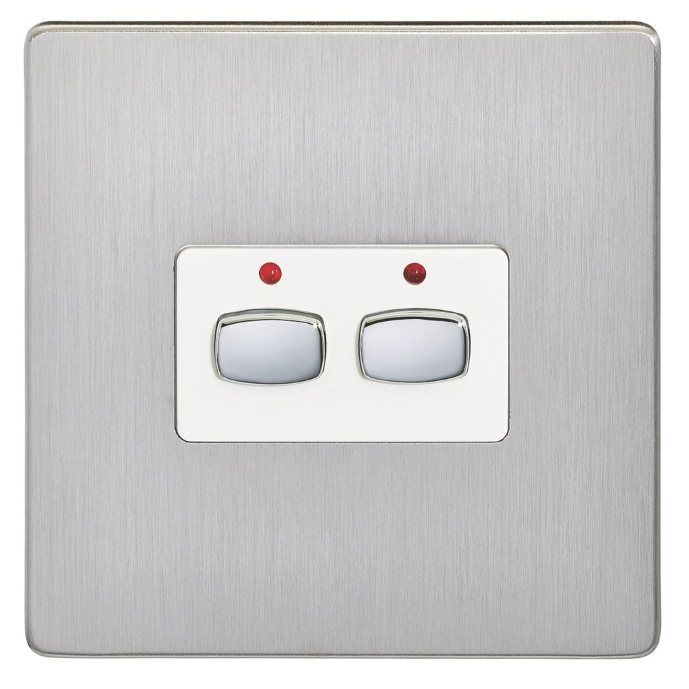 Energenie  2-Gang 2-Way 1A Smart On/Off Light Switch Brushed Steel