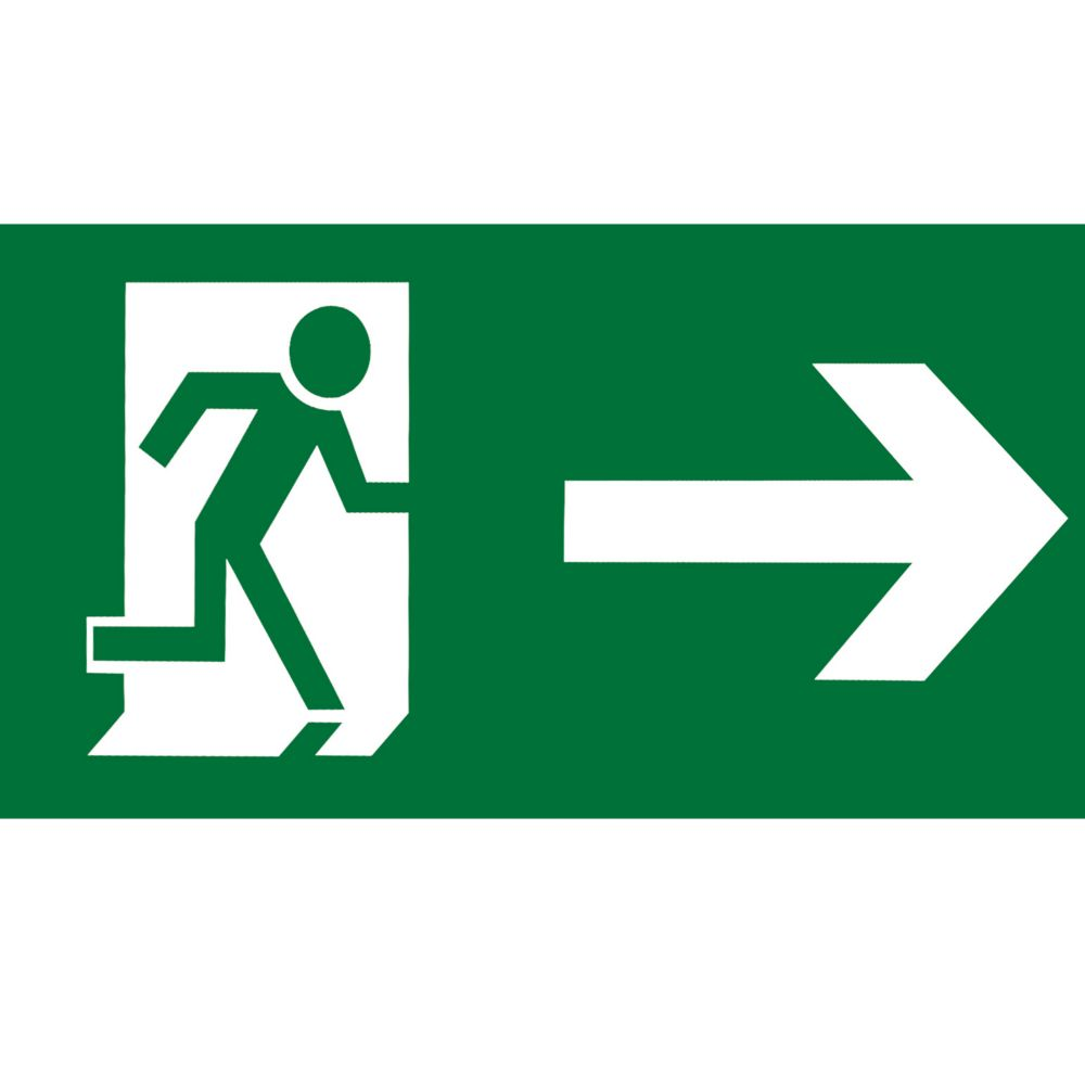 Aurora EN-LG2LR Emergency Exit Left / Right Legend 145 x 290mm