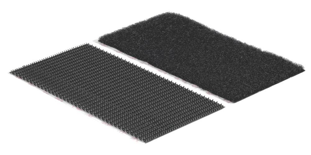 Velcro Brand  Black Heavy Duty Stick-On Strips 2 Pack