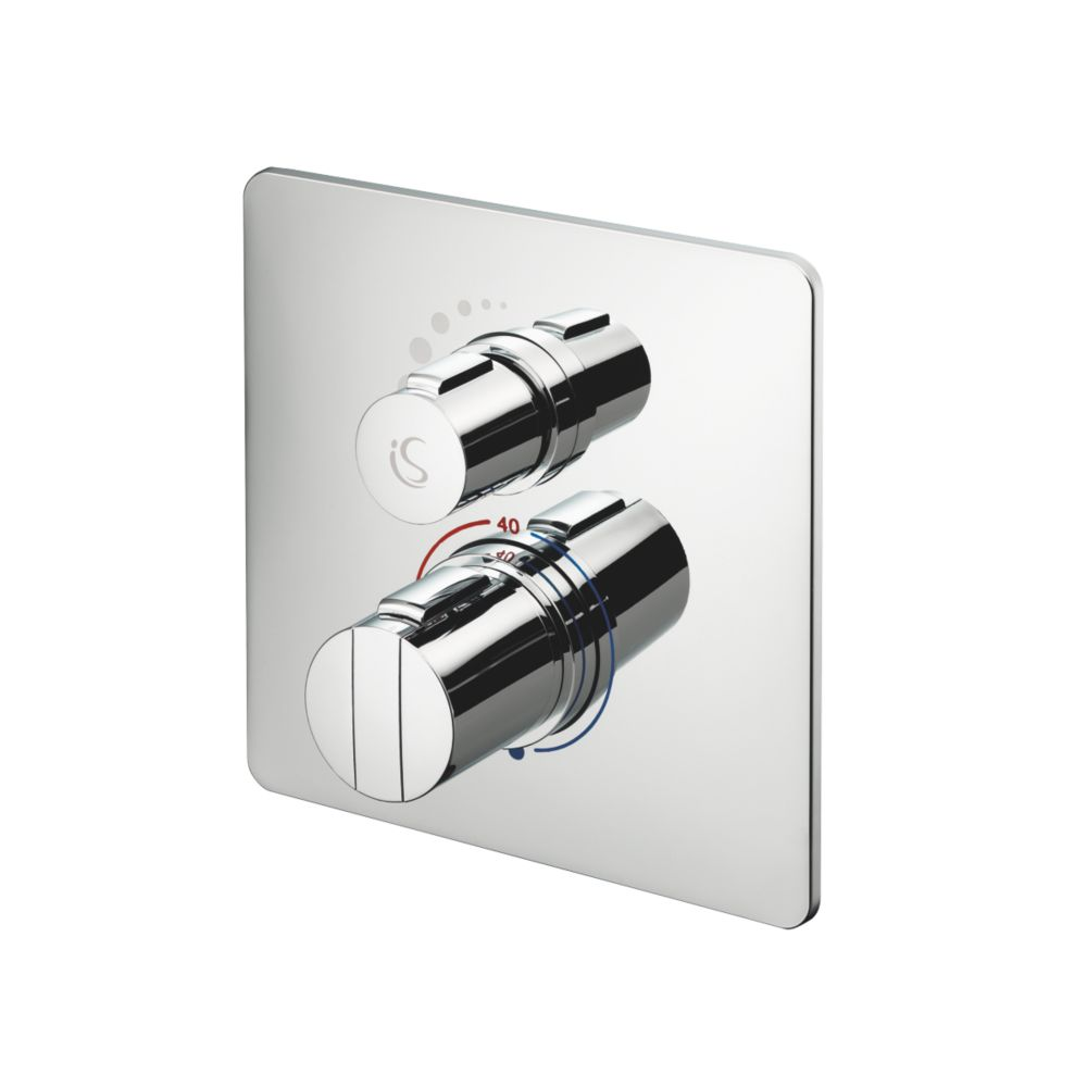 Ideal Standard Easybox Slim Concealed Thermostatic Mixer Shower Valve Fixed Chrome