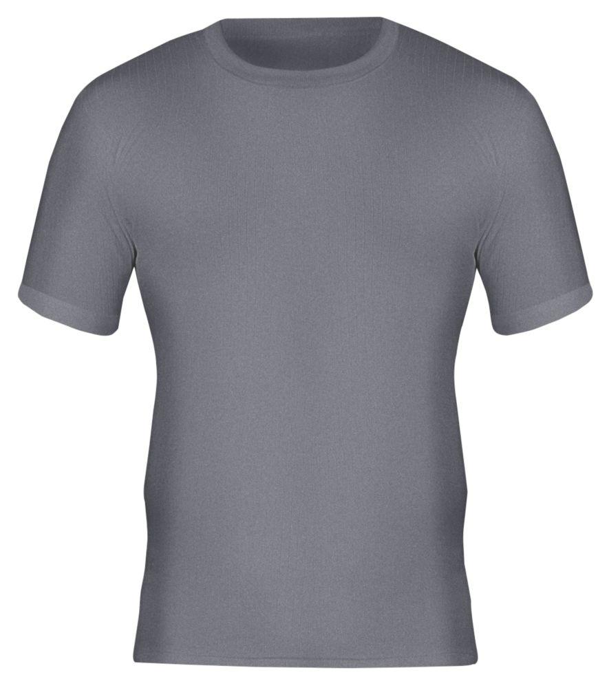 "Workforce WFU2400 Short Sleeve Thermal T-Shirt Baselayer Grey Large 36-38"" Chest"