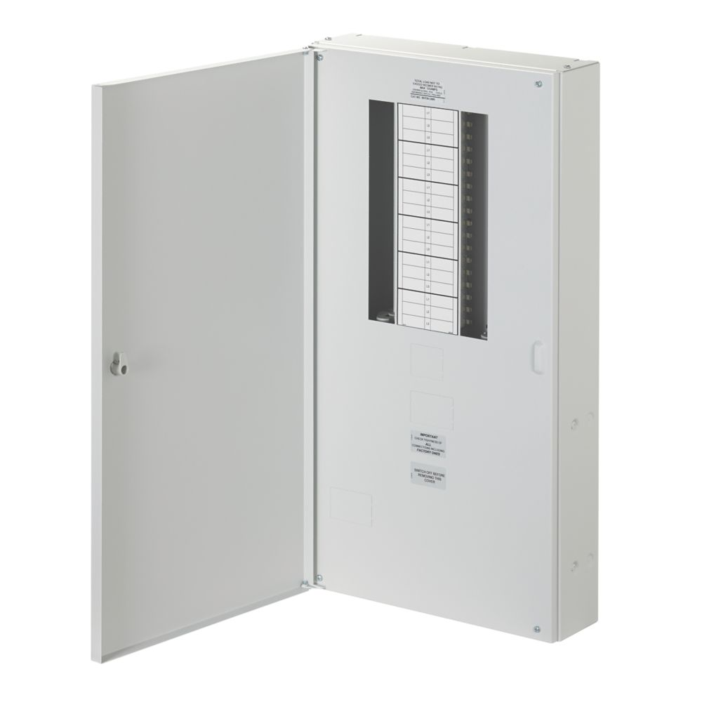 Wylex NH 12-Way Meter Ready 3-Phase Distribution Board