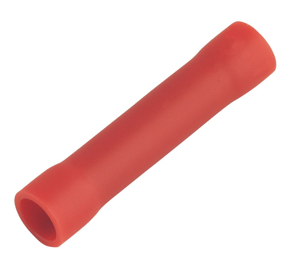 Insulated Crimp Red Butt Pack of 100