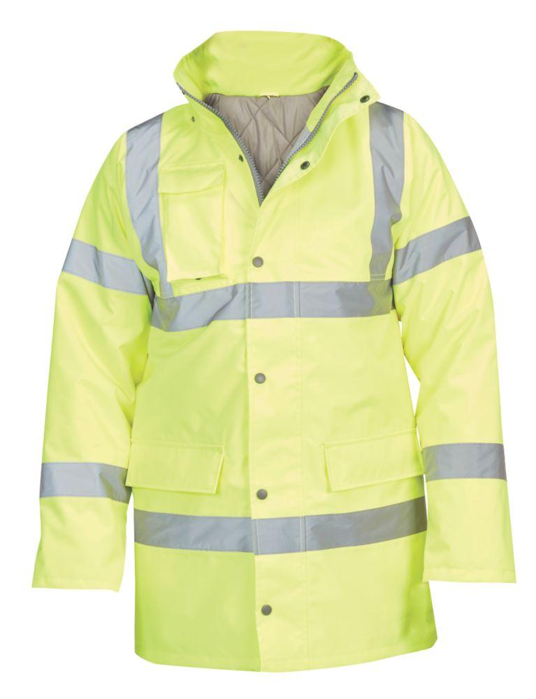 "Hi-Vis Traffic Jacket Yellow / Orange XX Large 60"" Chest"