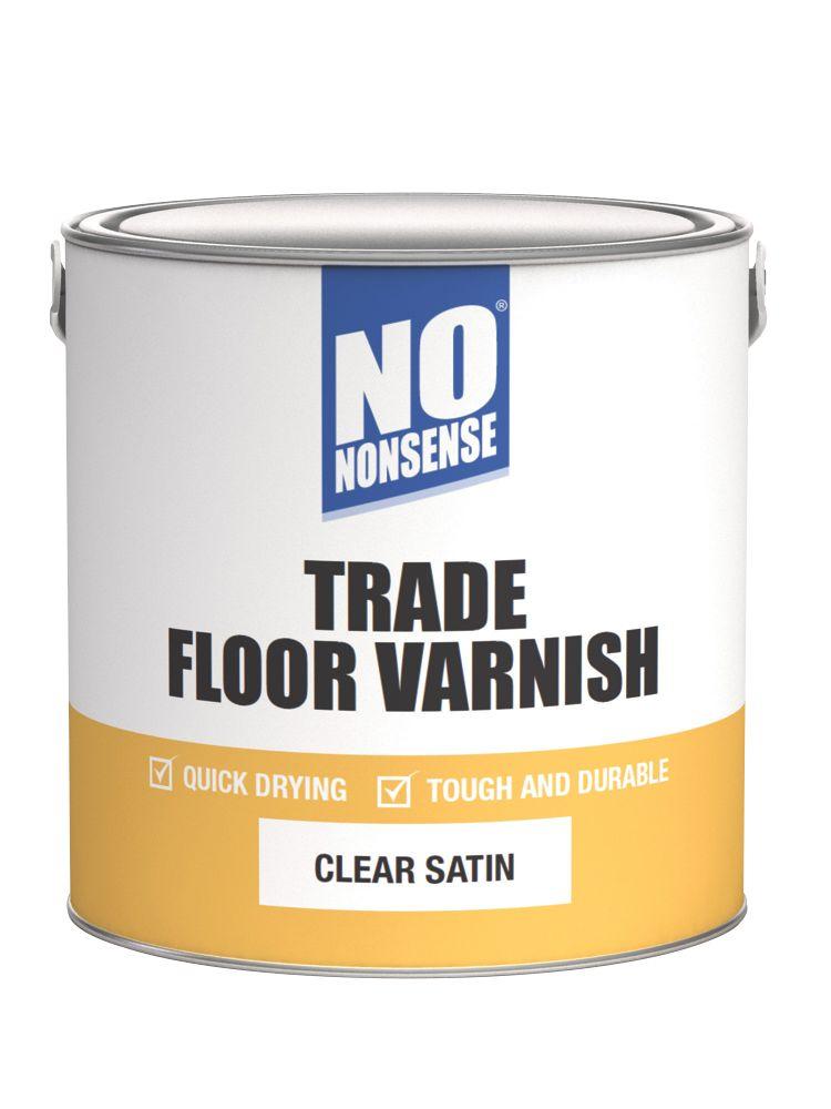 No Nonsense Quick-Dry Floor Varnish Satin 2.5Ltr