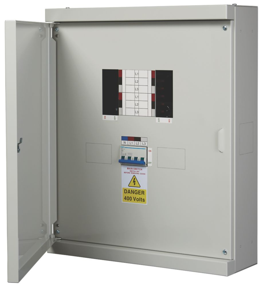 Chint Nxdb 4-Way 125A TP & N Meter Ready 3-Phase Distribution Board
