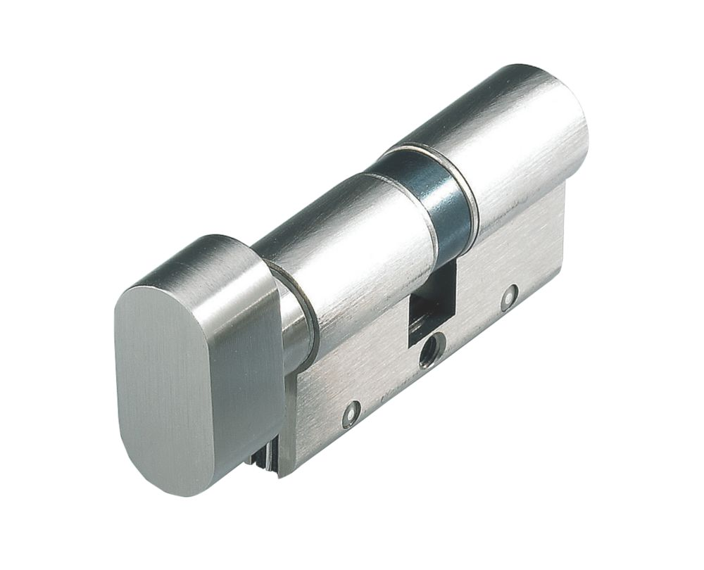Cisa  Astral S Series 10-Pin Euro Cylinder & Thumbturn 40-50 (90mm) Nickel-Plated