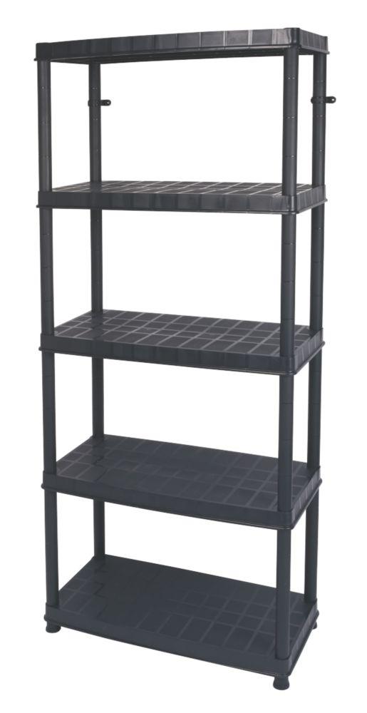 5-Tier Plastic Freestanding Shelving 850 x 400 x 1850mm