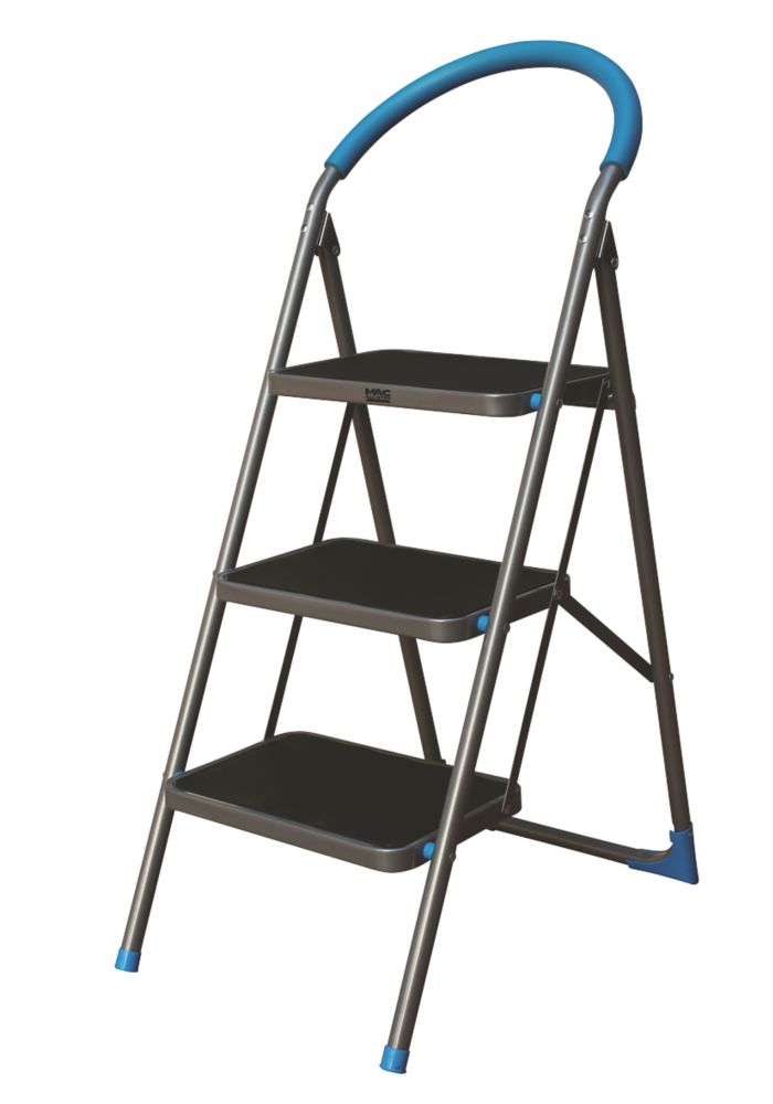 Mac Allister  Steel Folding Step Stool 0.72m