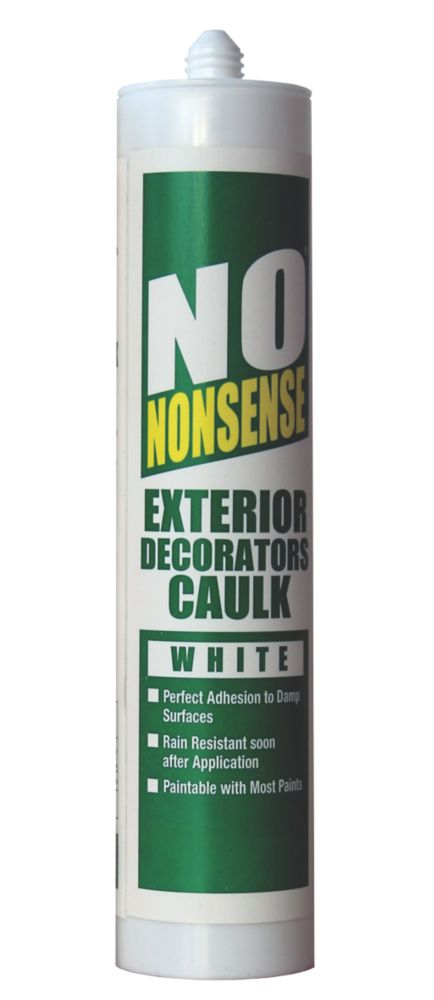 No Nonsense Exterior Decorators Caulk White 310ml