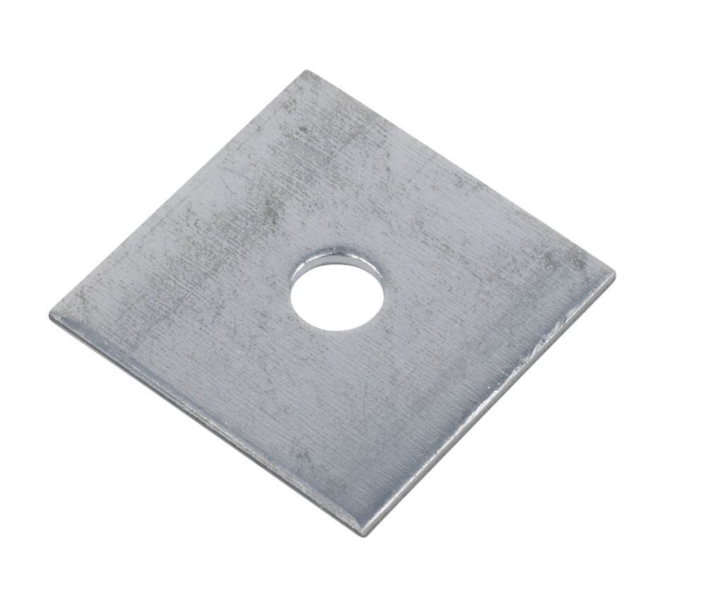 Sabrefix M10 Square Plate Washers Galvanised 50mm x 50mm 50 Pack