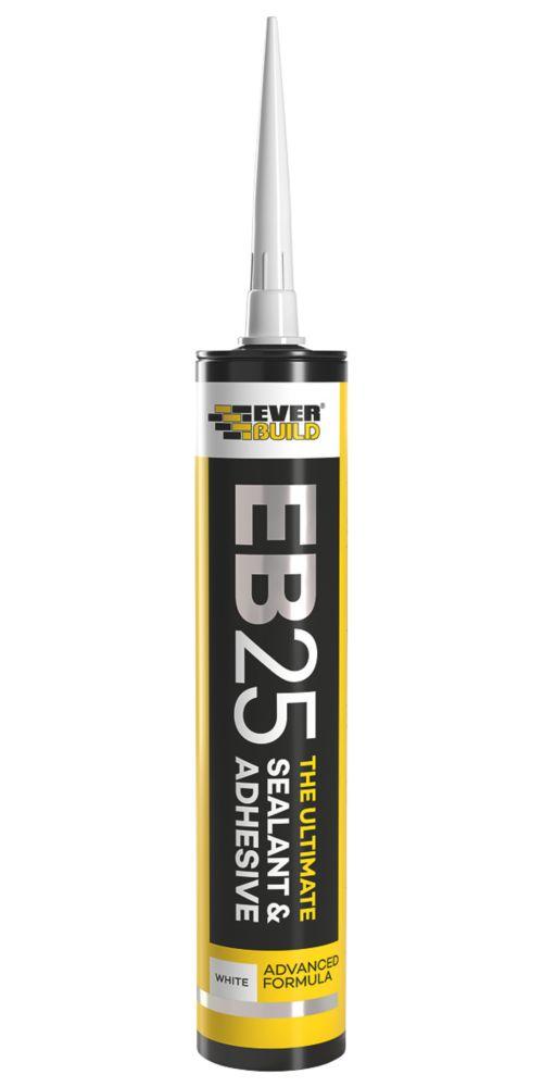 Everbuild EB25 Hybrid Sealant & Adhesive White 300ml