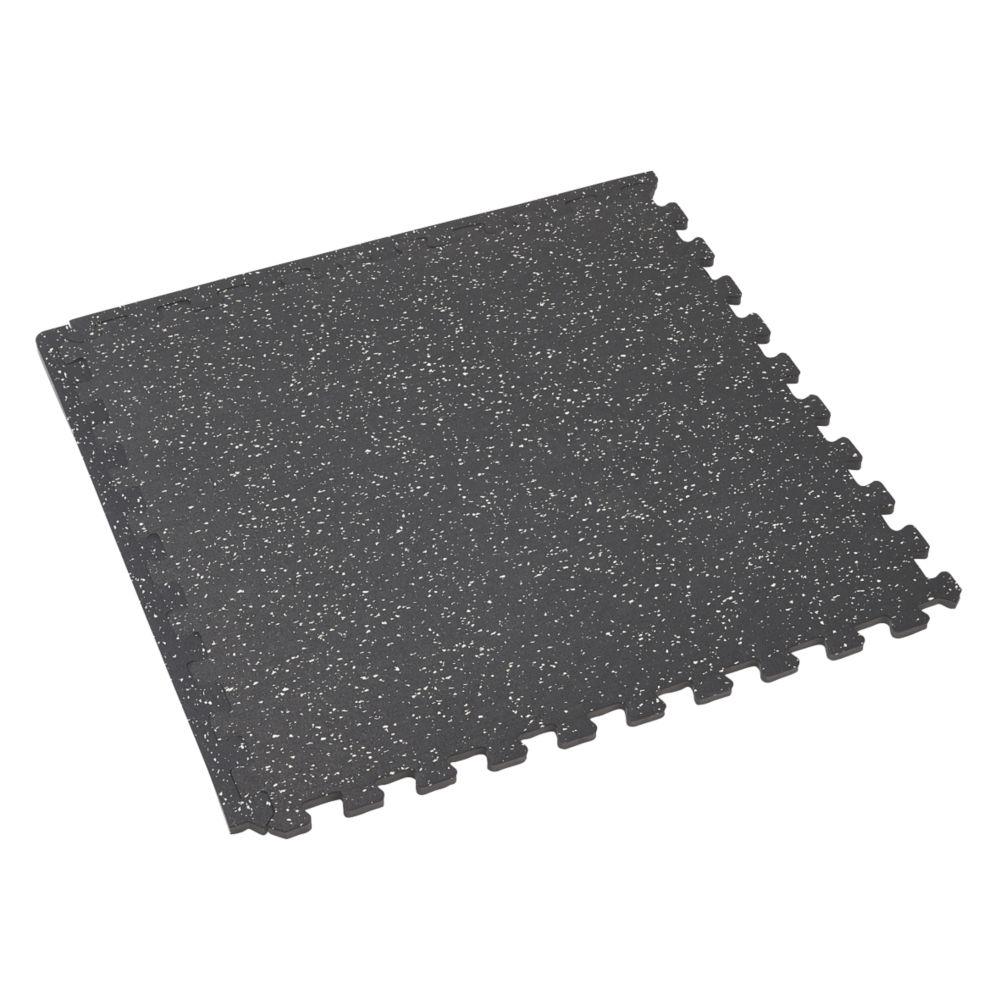 Mottez Interlocking Shock-Absorbing Floor Mat Grey / White 620 x 620mm